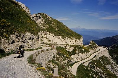 Col de la Boaire prachtig op foto, de hel om te rijden