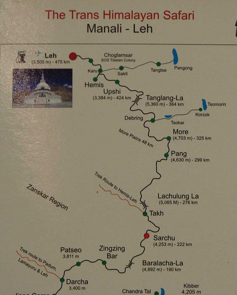 Sarchu - Leh, 253 km, 1 dag