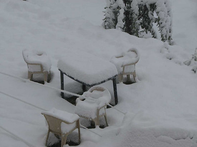 na één nacht sneeuwval