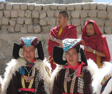 Kailash vrouwen en lama's